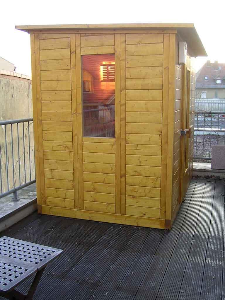 Aussen Sauna 4 B R Saunabau